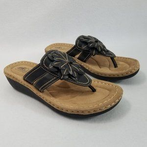 Cliffs by White Mountain Thong Wedge Sandal